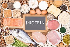 タンパク質(プロテイン)を多く含む食事