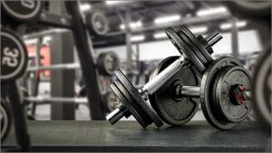 フィットネスジムのトレーニング器具の写真