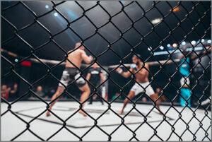 総合格闘技(MMA)の試合の写真