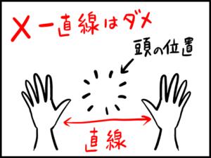 三点倒立の注意点
