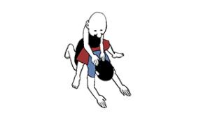 ヤスケビッチ式腕十字のやり方の説明
