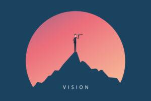 ビジョンという言葉を想起させるイラスト