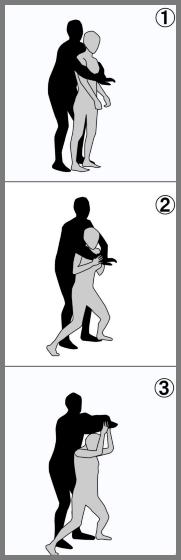 後ろから抱きつかれた時の護身術
