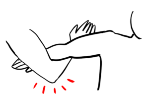 腕がためのセッティング