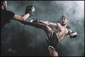 キックボクシングの試合の写真