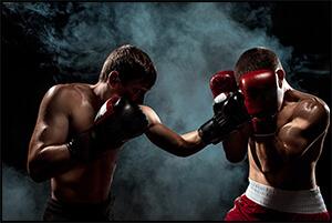 ボクシングの試合の写真