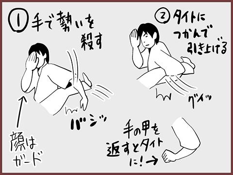 蹴りのキャッチ方法