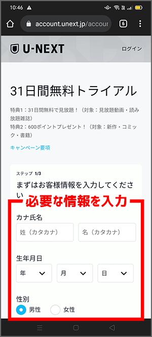 RIZIN LANDMARKの視聴チケット購入手順5