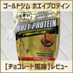 ゴールドジム(GOLD'S GYM) プロテイン・チョコレート風味のレビュー
