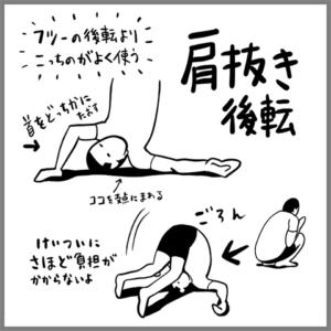 肩抜き後転の図解
